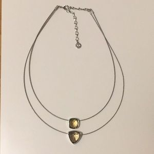 3/$30 Anne Klein Green Double Layer Necklace